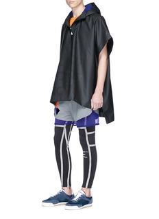 ADIDAS X KOLOR 激光镂空品牌名称涂层斗篷式外套