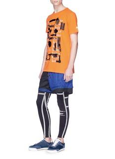 ADIDAS X KOLOR 涂鸦笔触品牌名称运动T恤