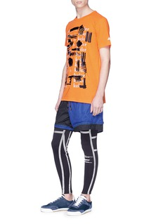 Adidas X Kolor Logo paint stroke print Climalite® performance T-shirt