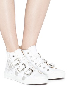 Chloé 'Kyle' buckled stud leather sneakers