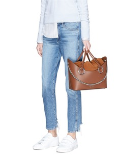 Meli Melo 'Ornella' inverted handle leather tote