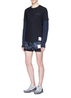 Satisfy 'Short Distance 3' tie dye running shorts