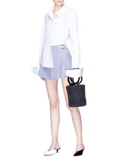 ANNA QUAN 'Celeste' stripe wrap skirt