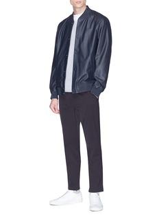 Theory 'Hubert' lambskin leather varsity jacket
