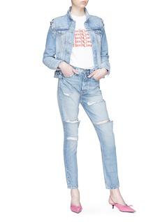 GRLFRND 'Karolina' distressed skinny jeans