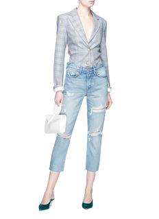 GRLFRND 'Karolina' distressed cropped skinny jeans