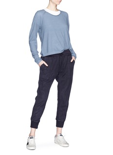 James Perse Jersey panel garment dyed cropped jogging pants