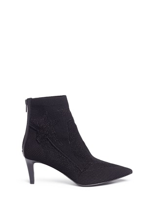Main View - Click To Enlarge - Ash - 'Dreamer' metallic star jacquard knit boots
