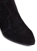 'Hurrican' suede cowboy ankle boots
