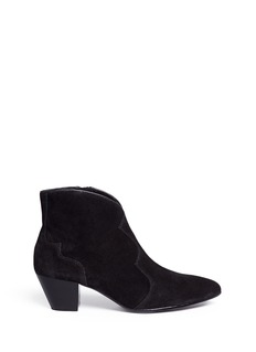 Ash 'Hurrican' suede cowboy ankle boots