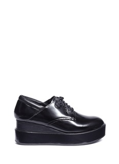 Ash 'Madness' platform wedge leather Derbies