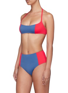Solid & Striped 'The Jessica' colourblock halterneck bikini top
