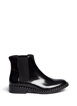 Main View - Click To Enlarge - Ash - 'Winona' stud welt leather Chelsea boots