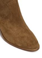 'Indy' star stud fringe suede boots