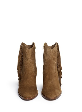 Front View - Click To Enlarge - Ash - 'Indy' star stud fringe suede boots