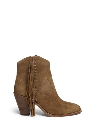 Main View - Click To Enlarge - Ash - 'Indy' star stud fringe suede boots