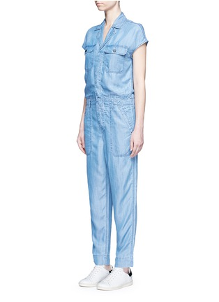 Front View - Click To Enlarge - Closed - 'Jane' utility straight leg lyocell jumpsuit