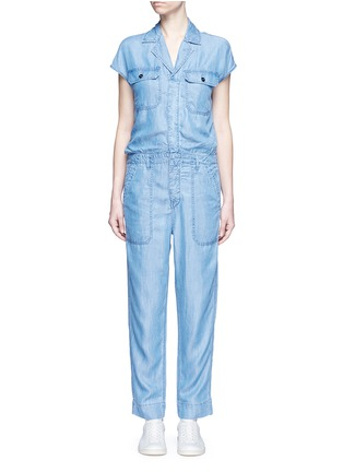 Main View - Click To Enlarge - Closed - 'Jane' utility straight leg lyocell jumpsuit
