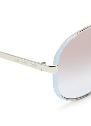 Detail View - Click To Enlarge - Michael Kors - 'Chelsea' coated rim metal aviator sunglasses