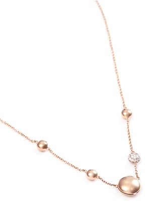 Figure View - Click To Enlarge - Roberto Coin - Diamond 18k gold bead necklace