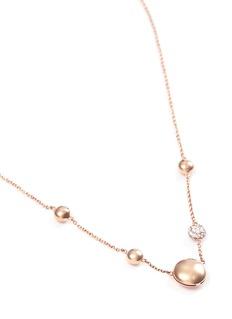 Roberto Coin Diamond 18k gold bead necklace