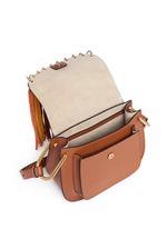 'Hudson' small suede fringe leather shoulder bag