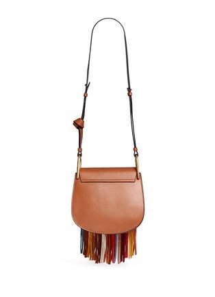 Back View - Click To Enlarge - Chloé - 'Hudson' small suede fringe leather shoulder bag