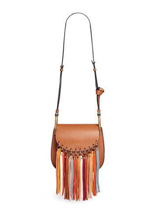 Main View - Click To Enlarge - Chloé - 'Hudson' small suede fringe leather shoulder bag