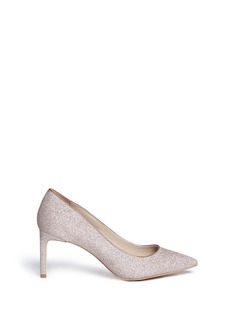 Pedder Red 'Jess' metallic glitter lamé pumps