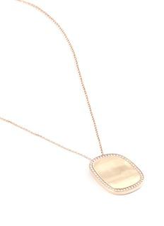 Roberto Coin 'Black Jade' diamond 18k rose gold pendant necklace