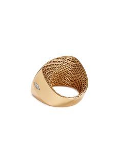 Roberto Coin 'Golden Gate' diamond 18k gold signet ring