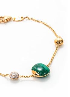 Roberto Coin 'Colored Treasures' diamond malachite 18k rose gold bracelet
