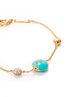 Roberto Coin 'Colored Treasures' diamond turquoise 18k rose gold bracelet