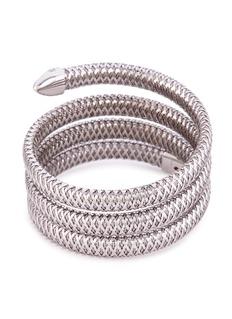 Roberto Coin 'Primavera' diamond 18k white gold coil bracelet