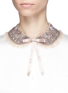 Needle & Thread 'Andromeda' bow embellished mesh collar