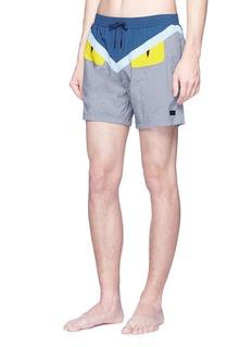 Fendi Sport 'Bag Bugs' appliqué swim shorts