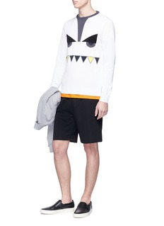 Fendi Sport 'Bag Bugs' intarsia cotton sweater