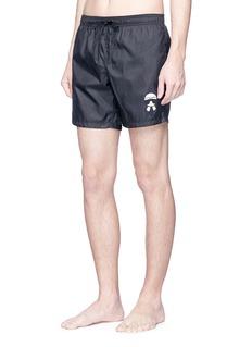 Fendi Sport 'Karlito' patch swim shorts