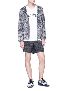 The Upside 'Ultra' camouflage print running shorts
