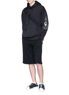 Y-3 oversize印花衣袖纯棉连帽卫衣