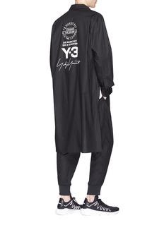 Y-3 'Yohji' logo print long shirt