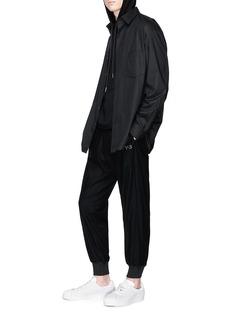 Y-3 品牌标志斜纹布休闲裤
