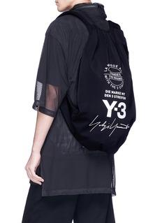 Y-3 Yohji品牌标志印花双肩包