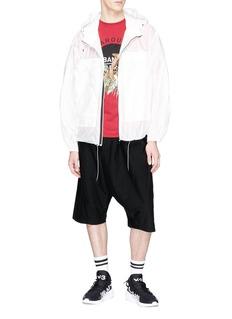 Y-3 Sarouel低裆斜纹布抽绳短裤