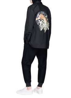 Y-3 Logo embroidered leopard print shirt