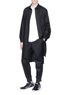 Y-3 不对称搭叠府绸修身休闲裤