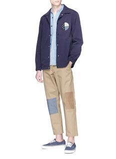 FDMTL Sashiko patch logo print coach jacket