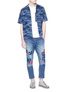 FDMTL Sashiko camouflage print short sleeve shirt