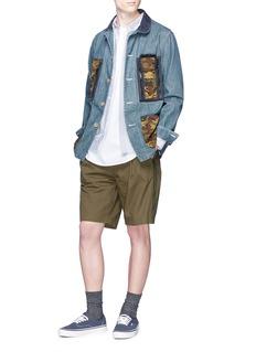 FDMTL x master-piece camouflage print pocket denim jacket