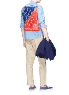 FDMTL Bandana back panel chambray shirt